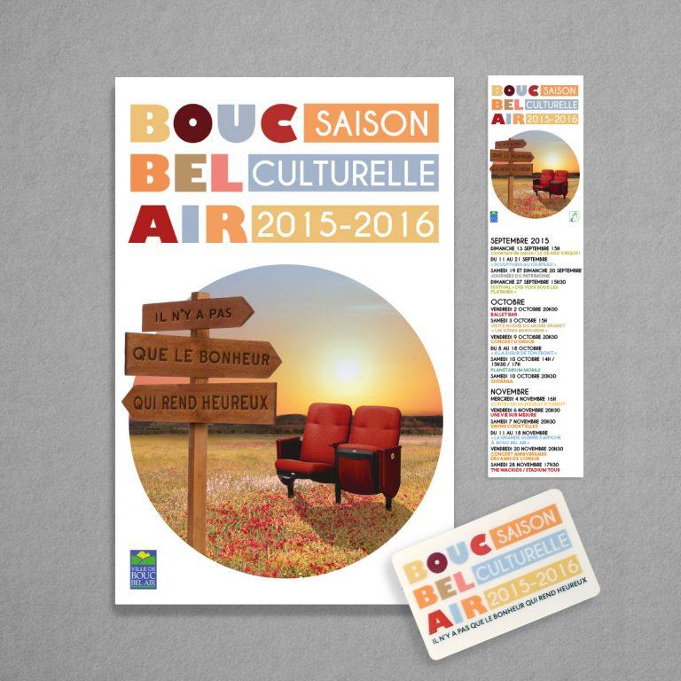 Charte graphique de la saison culturelle de Bouc Bel Air 2015