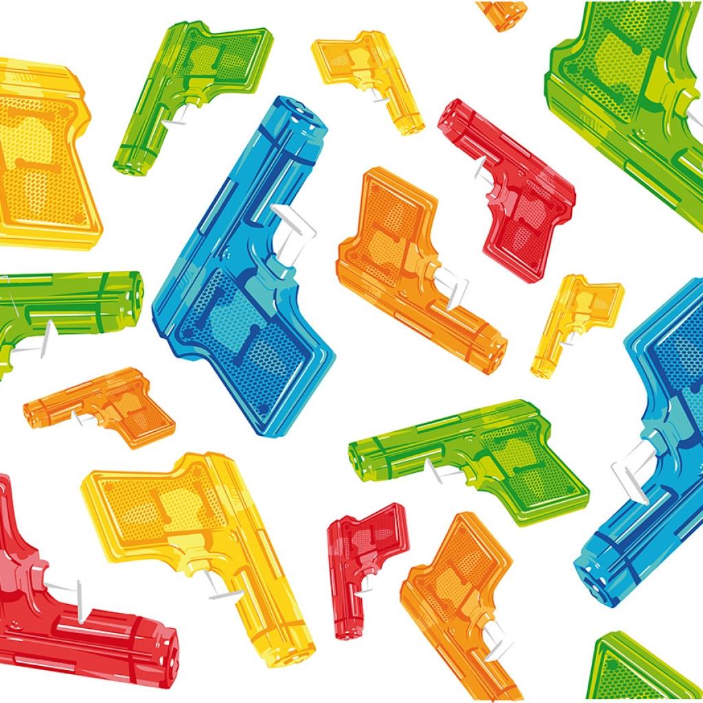 Création d'un visuel vectoriel pistolet à eau