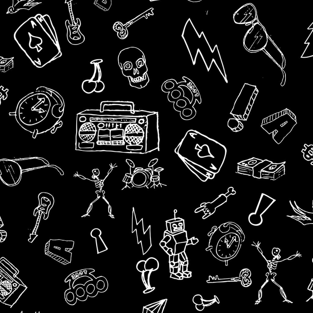 Création motif dessins rock'n'roll
