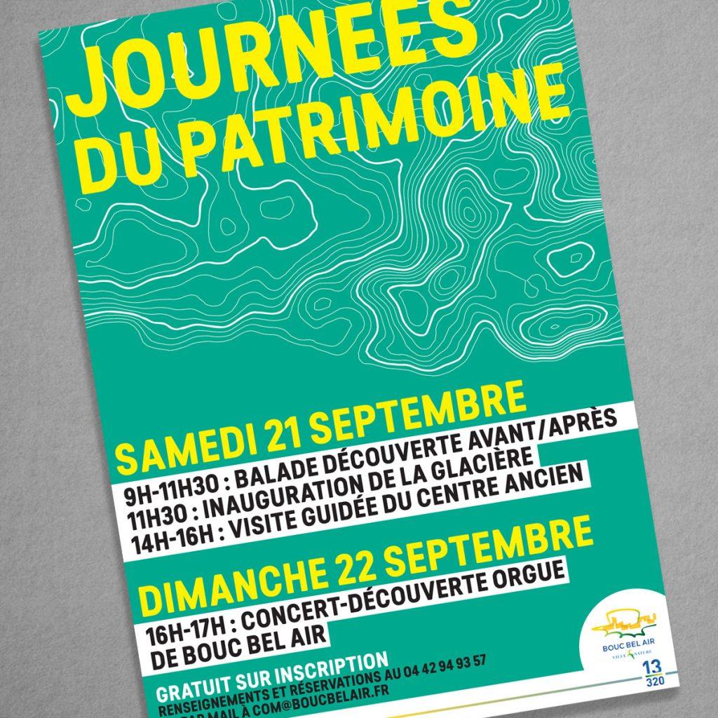 Création affiche Journées du Patrimoine